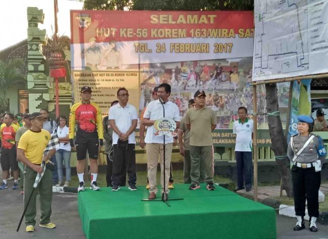 Ribuan Masyarakat Berbaur Dengan TNI Ikuti Fun Bike