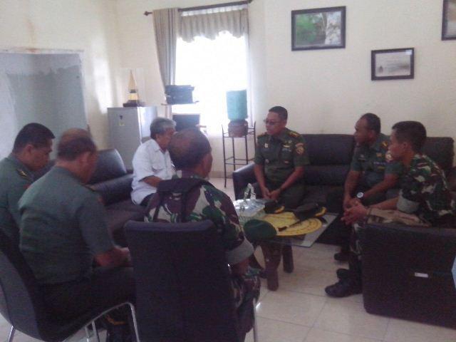Kasrem 163/Wira Satya Tinjau Lokasi Pembangunan Kompi Yonif Mekanis 741/GN