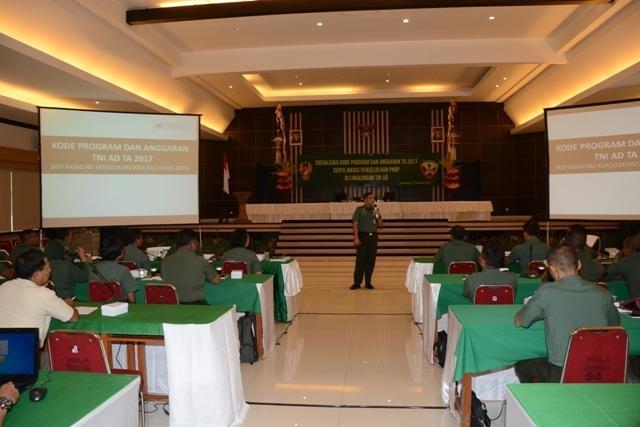 Sosialisasi Kode Program Dan Anggaran Ta 2017 Kodam IX/Udayana