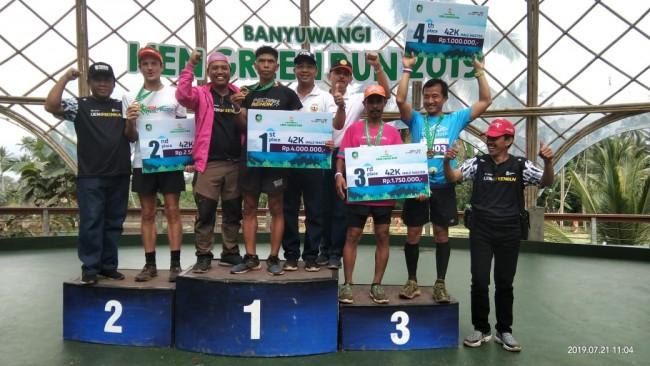 Luar Biasa Serka Dewa Gede Astawa Kembali Juara Pada Event Banyuwangi Ijen Green Run 2019