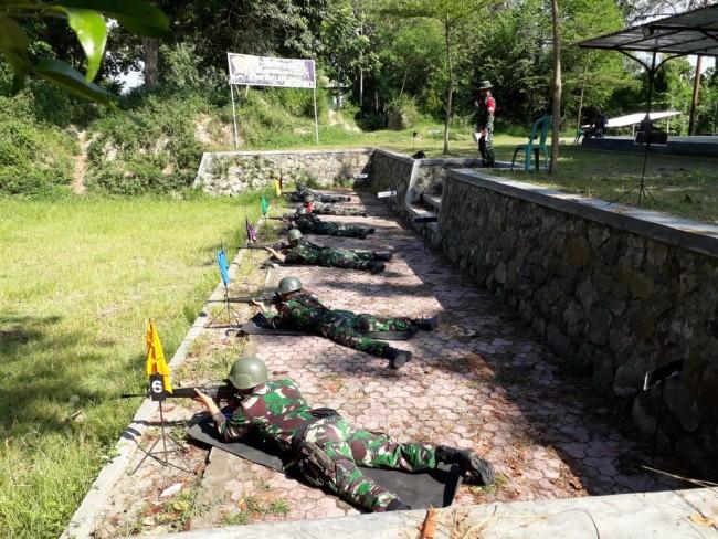 Tingkatkan Kemampuan Menembak, Seluruh Satuan Laksanakan Latbakjatri