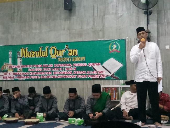 "Danrem : ""Tingkatkan Keimanan dan Ketaqwaan Melalui Peringatan Nuzulul Quran"""
