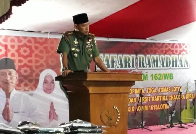Safari Ramadhan ke Kodim Lotim, Danrem Tekankan Deteksi Dini dan Cegah Dini