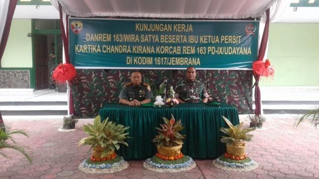 Danrem 163/Wirasatya Kunjungan Kerja ke Kodim 1617/Jembrana