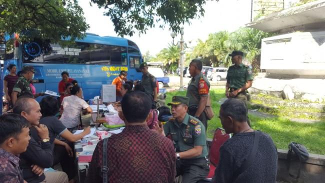 Kodim 1616/Gianyar Gandeng BKKBN Gelar Pelayanan KB Kesehatan