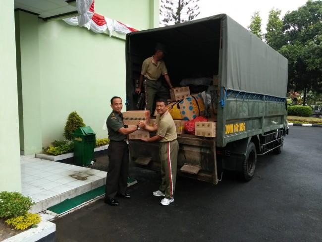 Kodim 1611/Badung Peduli Korban Bencana Alam Gempa di Lombok