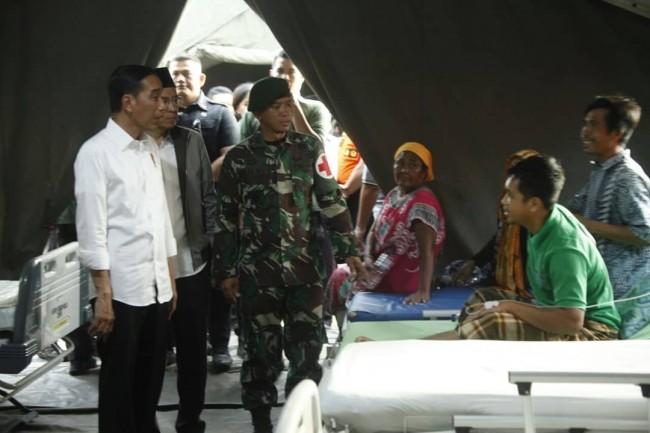 Panglima TNI Dampingi Presiden RI Kunjungan Kerja ke Lombok