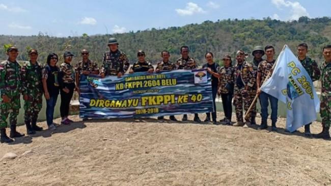 Anak Anggota TNI-Polri di Tapal Batas Ikut Patroli Bersama Satgas Pamtas RI-RDTL