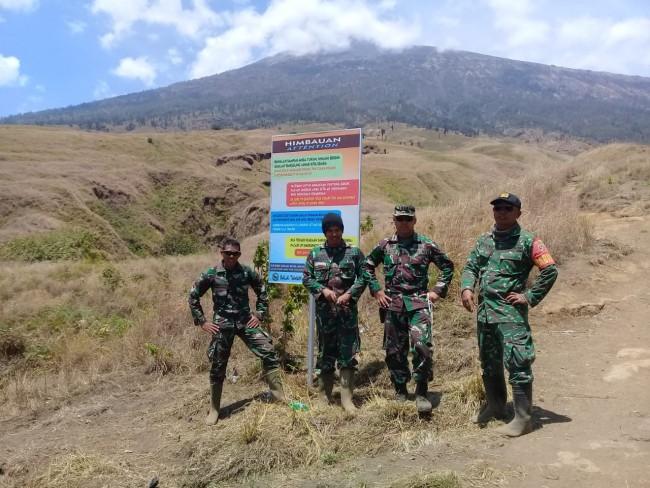 Dansektor III Lombok Timur Tinjau Kondisi Jalur Pendakian Gunung Rinjani