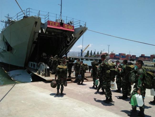 Pergeseran Pasukan, Ratusan Prajurit TNI di Lombok Dialihtugaskan ke Palu dan Donggala