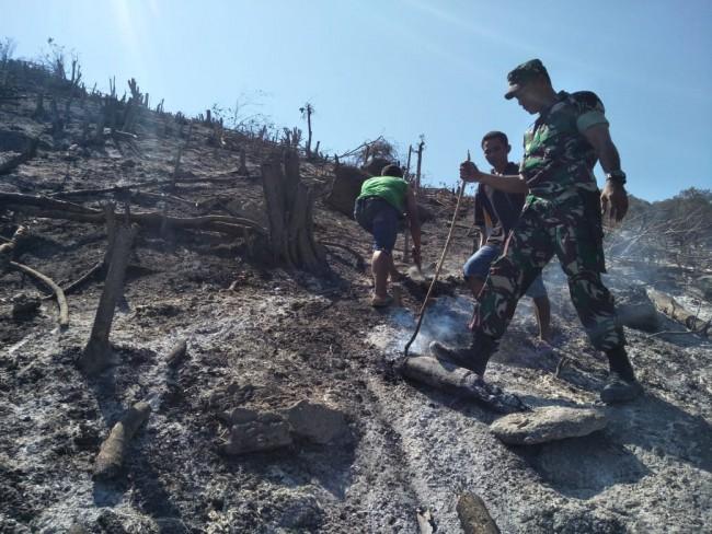 Antisipasi Terjadinya Kebakaran Hutan, Kodim 1612/Manggarai Laksanakan Deteksi Dini