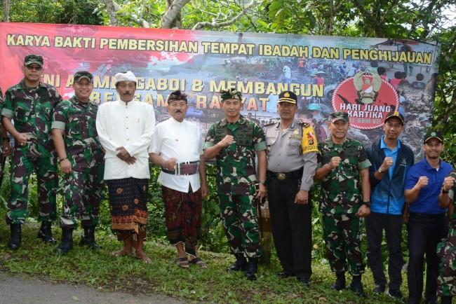 Peringati Hari Juang Kartika, Kodam IX/Udayana Gelar Bhakti Kesehatan dan Hijaukan Bukit Lempuyang