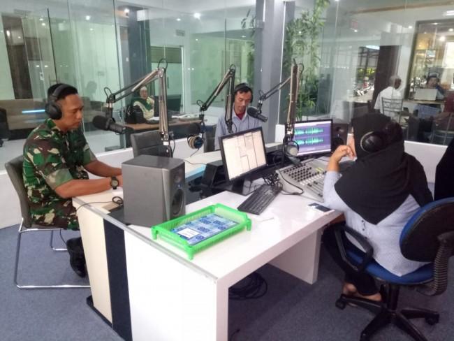 Dialog Interaktif di Kantor RRI, Danrem 162/WB Jelaskan Proses Percepatan Rehab Rekon Pasca Gempa
