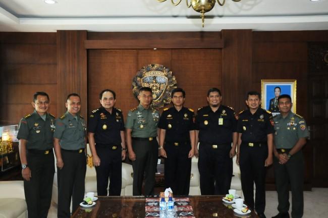 Pangdam IX/Udayana Terima Audensi Kepala DJBC Bali, NTB, NTT