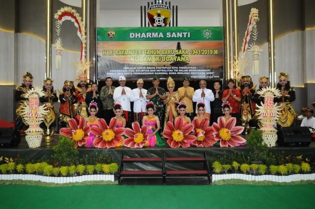 Pangdam IX/Udayana : Dharma Santi Perayaan Hari Raya Nyepi, Tingkatkan Kualitas Sradha dan Bhakti