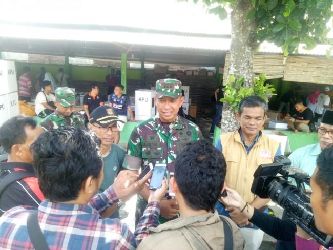 Danrem 162/WB Dampingi KPU dan Bawaslu NTB Sidak Gudang Logistik Pemilu