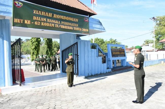 Dalam Rangka HUT ke 62 Kodam IX/Udayana, Korem 161/WS Gelar Ziarah Rombongan