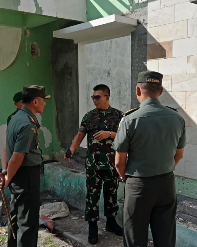 Pangdam IX/Udayana Tinjau Rehab Mess Kowad Kartika Udayana