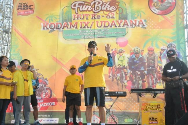 Meriahkan HUT ke-62 Kodam IX/Udayana dengan Fun Bike, Pangdam : Sehat Itu Mahal