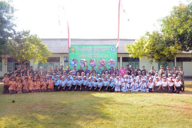 Wujudkan Generasi Emas, Paldam IX/Udy Latih Disiplin dan Pembentukan Karakter Siswa/i SMKN 1 Dps