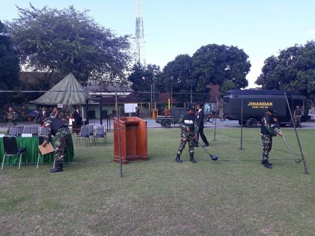 Drill Teknis Latpam VVIP Kodam IX/Udayana, Asah Kemampuan Tim Jihandak Yonzipur 18/YKR