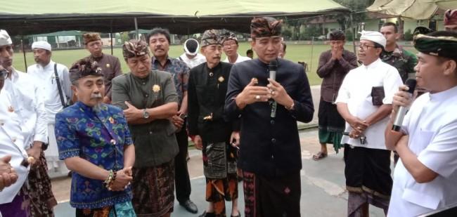 Minta Petunjuk Bangun Gerbang Benteng Dewata, Yonzipur 18/YKR Silaturahmi dengan Tokoh Puri