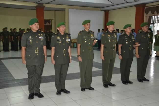 Lima Jabatan Pamen di Lingkungan Korem 163 Wira Satya Diserahterimakan