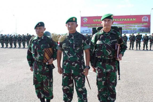 Pangdam Selaku Pangkoops, Irup Pelepasan Satgas Pamtas RI-RDTL TA. 2018/2019