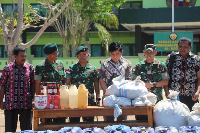 Coffee Morning Akhiri Masa Tugas Pamtas RI-RDTL Yonif Raider 408/Sbh di Belu
