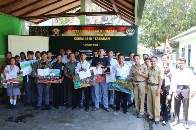 Komsos Kreatif Kodim Tabanan Gelar Lomba Lukis Tingkat SMA/SMK Se Kabupaten Tabanan