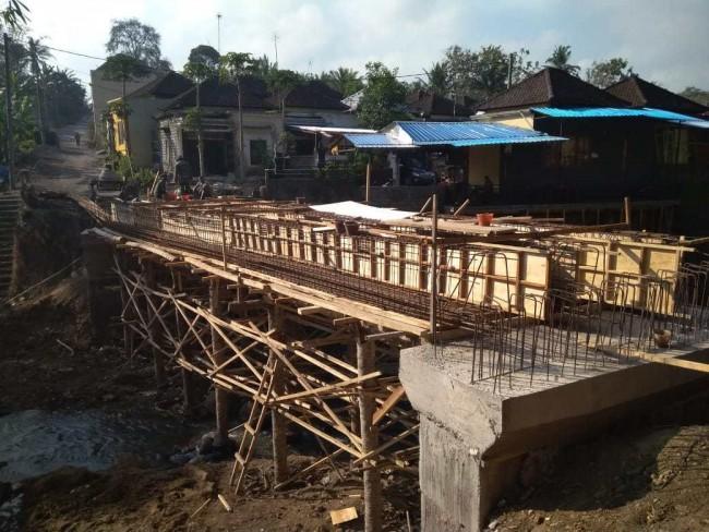 Capai 65 Persen, Jembatan Gubug - Bongan Saat Pra TMMD ke-106 Kodim 1619/Tabanan