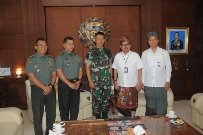 Pangdam IX/Udayana Menerima Kunjungan Pimpinan Bank Indonesia