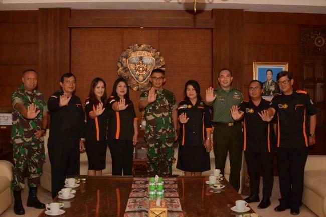 Akan Menggelar Aksi Nasional P4GN, Pangdam IX/Udayana Terima Kunjungan GANNAS Provinsi Bali