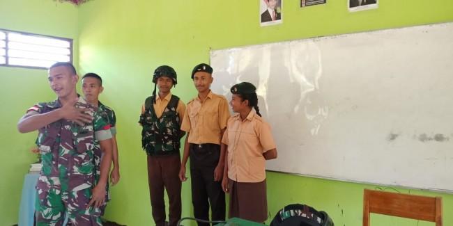Satgas Yonif Raider 142/KJ Tingkatkan Minat Generasi Muda Terbaik Bangsa Untuk Menjadi Abdi Negara