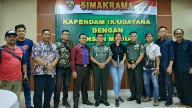 Tingkatkan Kemitraan Dengan Insan Pers, Pendam IX/Udayana Gelar Simakrama