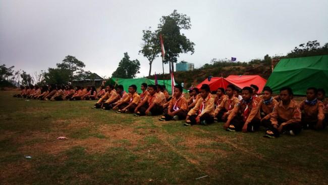 Kodim 1608/Bima Gelar Latihan Pramuka SWK di Desa Sambori