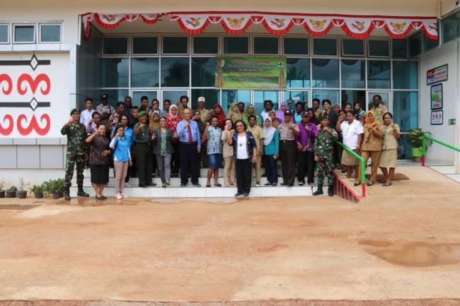 Wujudkan Papua Sehat Sejahtera, Satgas Yonif 411 Gelar Pelayanan Kesehatan