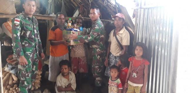 Tali Asih Satgas Yonif R 142/KJ Terhadap Masyarakat Penyandang Polio di Wilayah Perbatasan