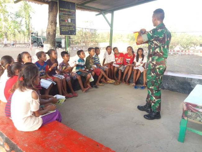 Bimbel Gratis di Tapal Batas, Inilah Wujud Pengabdian TNI Dalam Cerdaskan kehidupan Bangsa