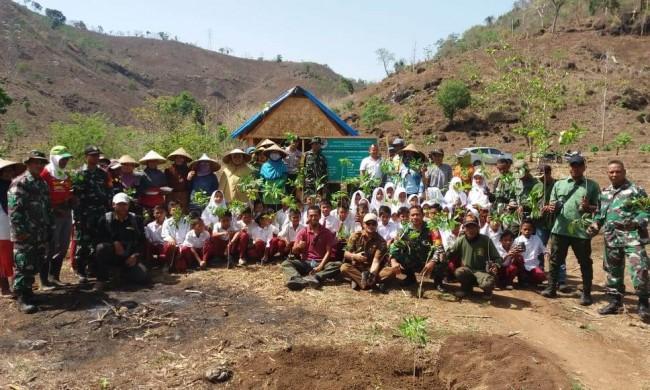 Kodim 1614/Dompu Siap Sukseskan Reboisasi Lahan dan Hutan Banggo