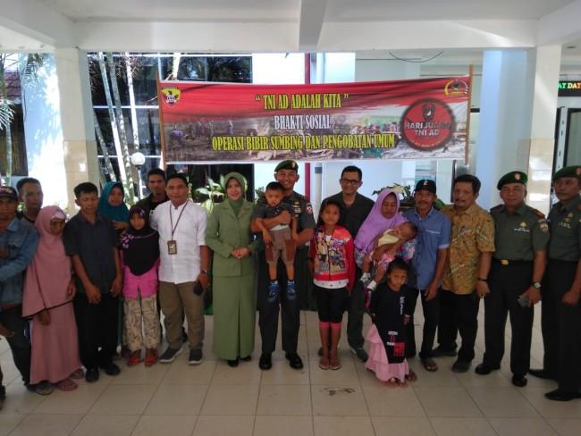 Jelang Peringatan Hari Juang TNI AD, Kodim Sumbawa Gelar Operasi Bibir Sumbing