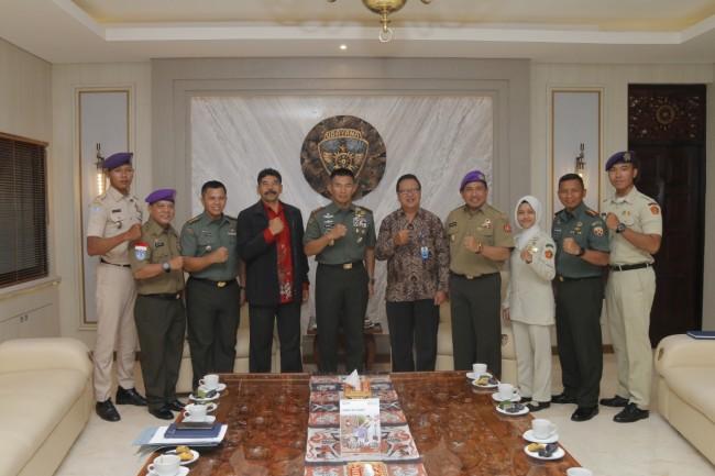 Danmenwa Ugracena Bali Sampaikan Kegiatan Belneg Kepada Pangdam IX/Udayana