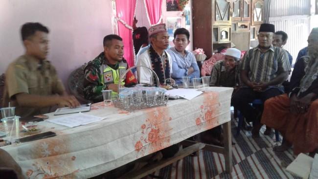 Jaga Situasi Keamanan Wilayah, Babinsa Macang Pacar Hadiri Mediasi Penyelesaian Sengketa Tanah