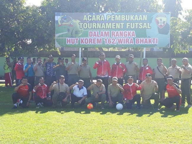 """""""Sport is My Life Style"""", Danrem 162/WB Membuka Kejuaraan Futsal Antar Satuan"""
