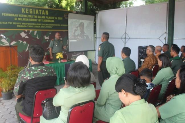 Pilkada Serentak 2020, Dandim Jembrana : 200 Persen Kita Pegang Teguh Netralitas TNI