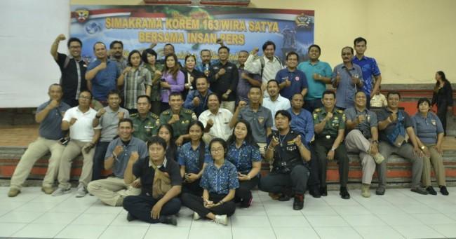 Kapenrem 163/WSA Apresiasi Peran Media Dalam Publikasikan Kegiatan TNI