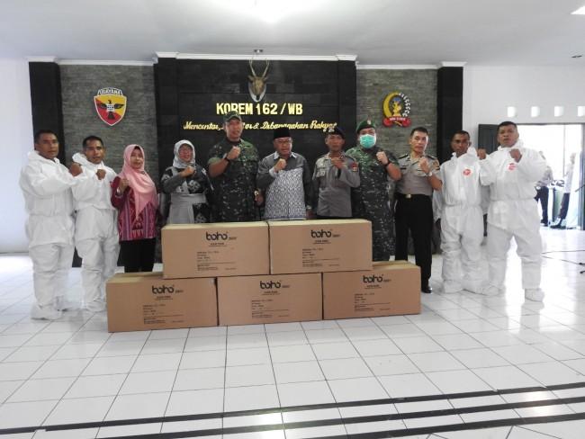 Danrem 162/WB Distribusikan Bantuan APD dari BNPB RI