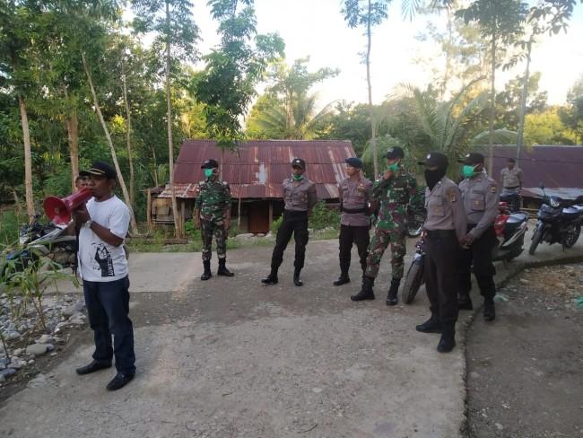Cegah Wabah Covid-19, Satgas Yonif R 142/KJ Sosialisasikan Hingga ke Pelosok Perbatasan