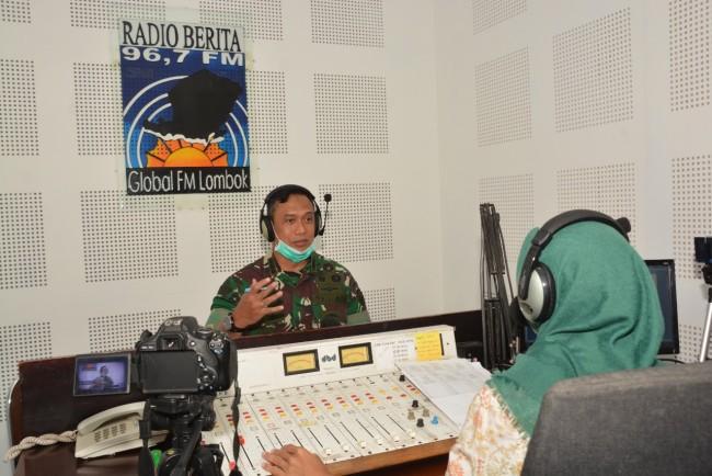 Danrem 162/WB Siaran Langsung di Radio Global FM Tentang Penanganan Covid-19 di NTB