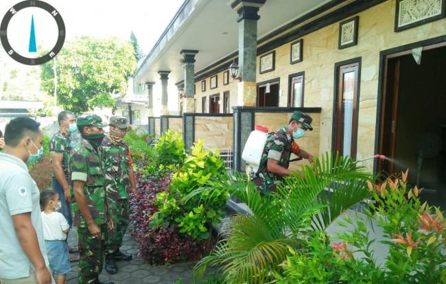 Babinsa di Pulau Wisata Nusa Penida Cegah Penyebaran Virus Corona